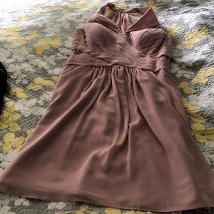 Beautiful blush colored bridesmaid dress